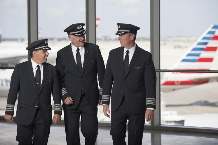 Pilotos da American Airlines