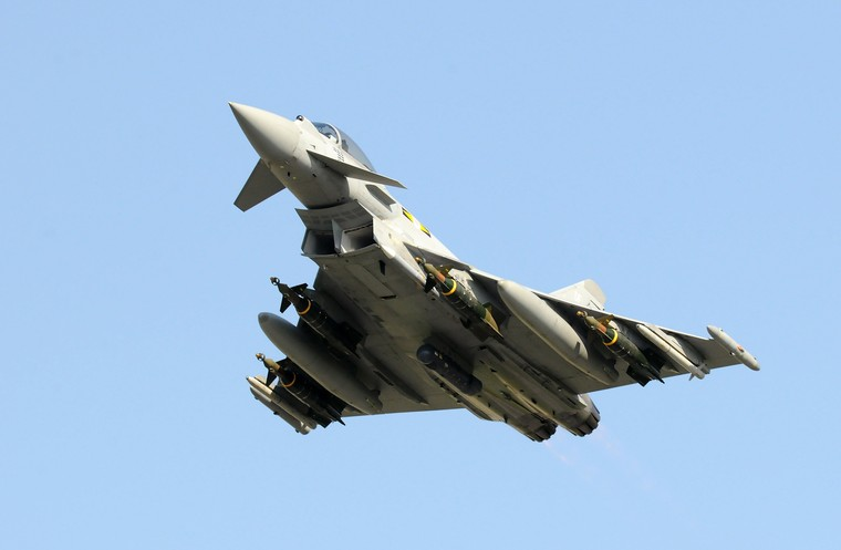 Caça typhoon da Royal Air Force