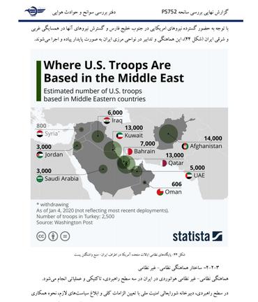 Página do relatório do acidente no Irã
