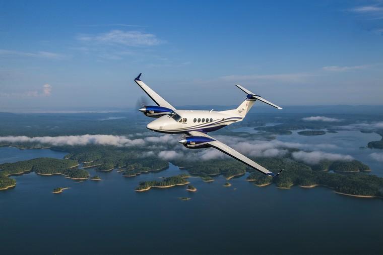 King Air 260 em voo