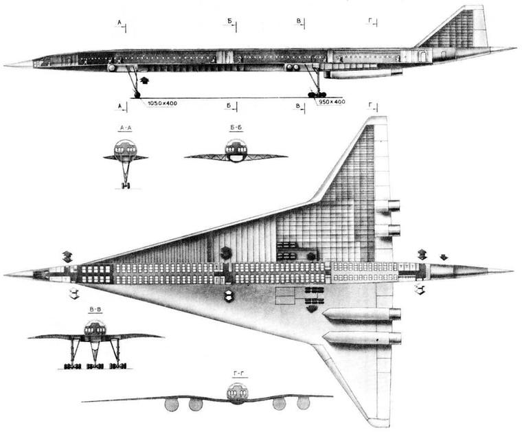 Cutway Tupolev Tu-244