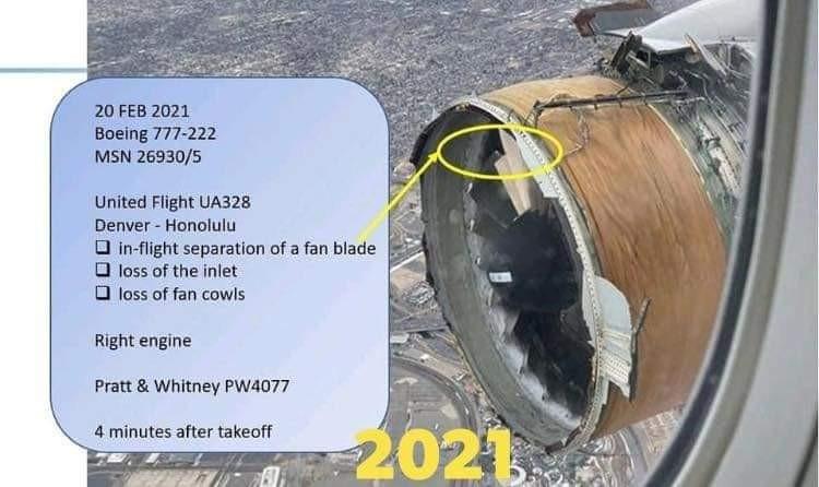 Detalhamento do problema com o motor PW4000 do 777