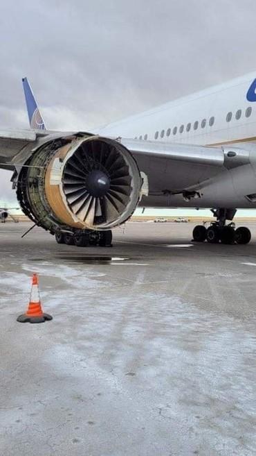 PW4000 do 777 após a explosão em voo