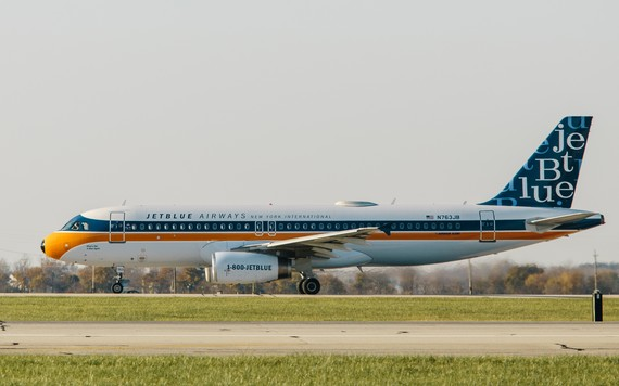 Pintura retrô em aeronaves da JetBlue