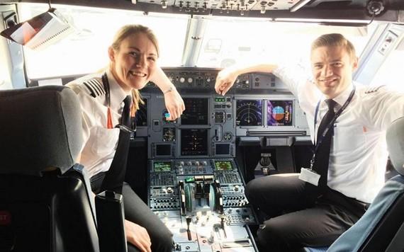 Comandante mais nova da aviação comercial