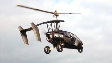 híbrido de motocicleta e helicóptero
