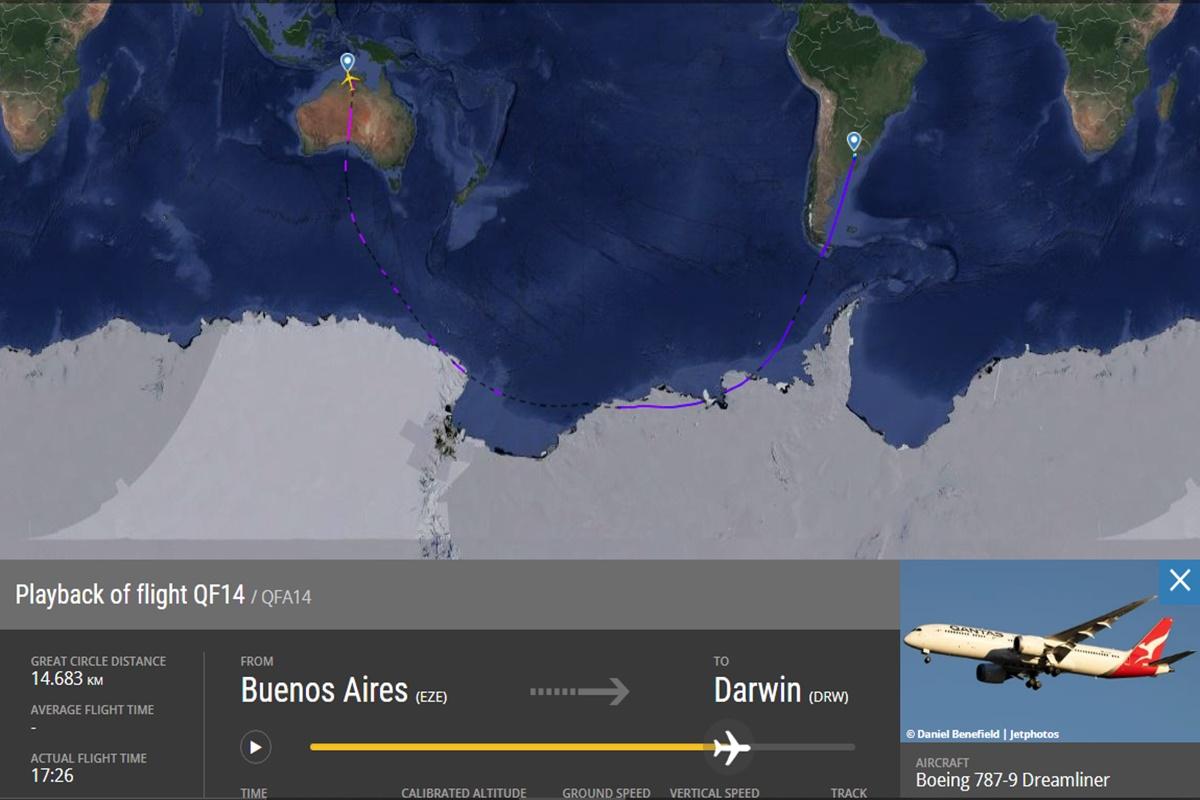 Voo mais longo da história da Qantas